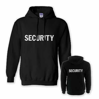 Security Hoodie Black Doorman Jacket Hoody Choice Of Front Print Styles
