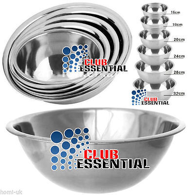 Set Of 5 Stainless Steel Mixing Bowls Kitchen Salad Baking Cooking Sauces Bowl