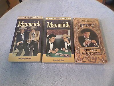 Maverick - Shady Deal at Sunny Acres / Bundle from Britain..... (3 VHS) - NEW