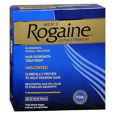 Men's Rogaine Extra Strength 5% Minoxidil Hair Regrowth Treatment 3 Month Supply