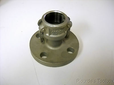 """New 1"""" Dixon Andrews Stainless Steel Cam & Groove Flange Adapter, 100-DL-SS"""
