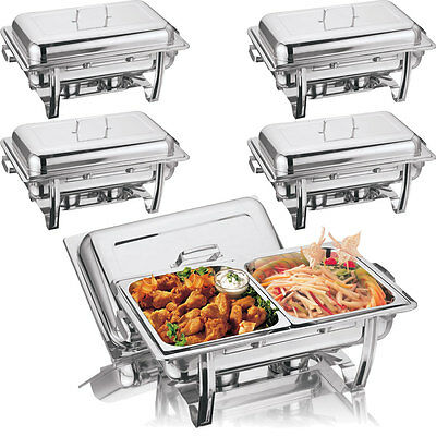 New 2 Pans Chafing Dish Set Stainless Steel 8.5L Party Cater Food Warmer Fuel