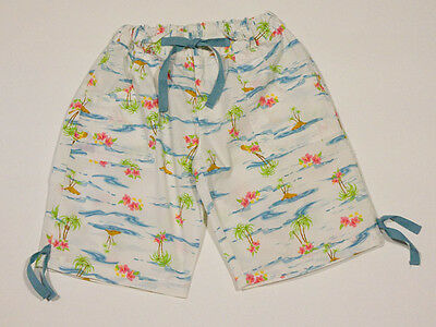 American Girl Size 8 Bermuda Shorts Island Vacation Tropical Island Palm Trees