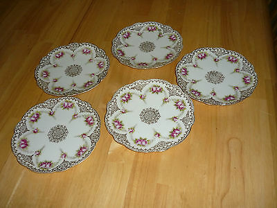 Set Of 5 Austria Imperial Crown China Bread & Butter Plates(3 Perfect)