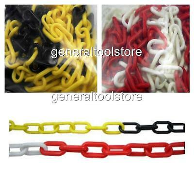 Plastic Warning Chain Red And White Or Yellow And Black Warehouse Caution