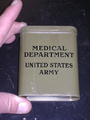 WWII Era US Army Medical Department First Aid Tin (full)