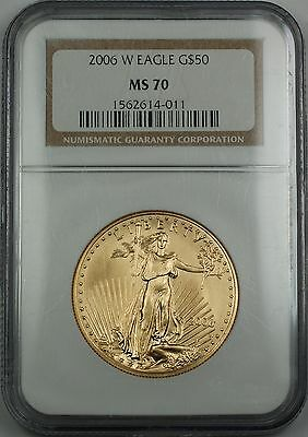 2006-W $50 1 Oz American Gold Eagle NGC MS-70 *Perfect Gem Coin* AGE