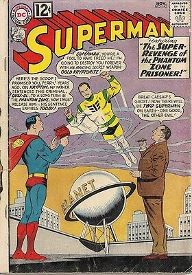 SUPERMAN 157 DC RARE 1962 ISSUE VG+ 1939 1st SERIES