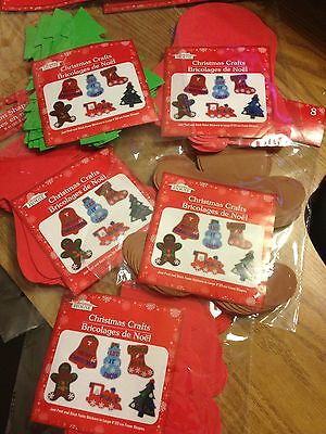 "CHRISTMAS CRAFT FOAM SHAPES - 8"" - 8pcs - NEW IN PACKAGE"