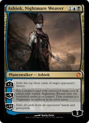 ASHIOK, NIGHTMARE WEAVER Theros MTG Gold Planeswalker MYTHIC RARE