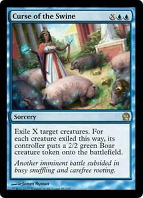 CURSE OF THE SWINE Theros MTG Blue Sorcery RARE