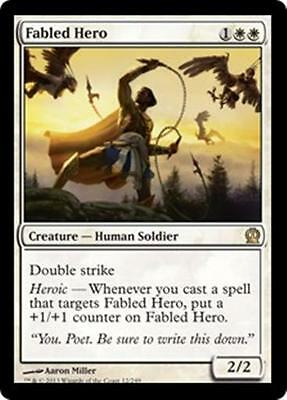 FABLED HERO Theros MTG White Creature — Human Soldier RARE