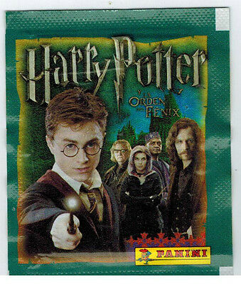 UNOPENED HARRY POTTER and THE ORDER OF THE PHOENIX STICKER PACK FROM BOX PANINI