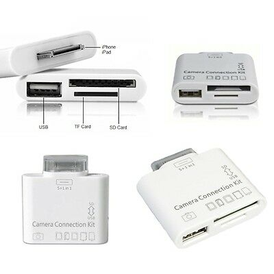 Kit Camera Connection Per Ipad 2 3 Adattatore Porta Usb Schede Micro Sd