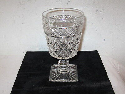 """Imperial Cape Cod Crystal 5 1/4"""" Water Goblet Glass VF With Wafer Stem"""