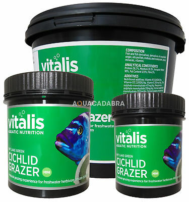 New Era Vitalis  Rift Lake Green Cichlid Grazer Fish Food Tank Tropical Malawi