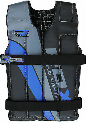 RDX Pro Removable Weighted Jacket 8,10,12,14 Kg Weight Vest Loss Gym Running B