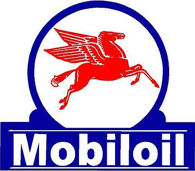 Mobil Oil Vinyl Decal Sticker (A3818) 12 Inch