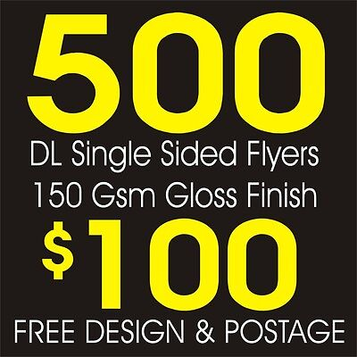 500 DL Flyers, Full Colour Printing, Free Design & Postage