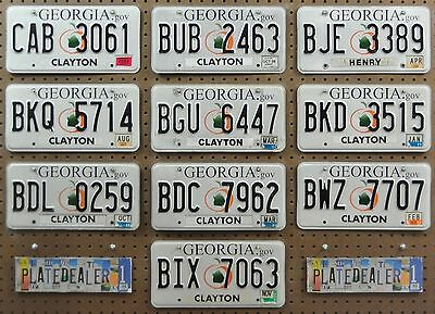 10 GEORGIA Peach Map License Plates Collecting Hobby Art Crafts GENERIC BULK LOT
