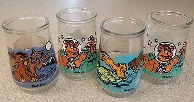 Welch's Jelly Jar Muppets in Space & Simba Lion King Childrens Drink Glasses