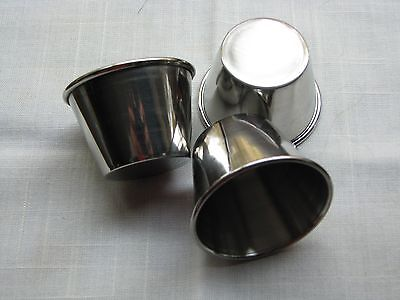 2.5 oz Stainless Steel Souffle Cups for Drawn Butter,Cocktail Sc,Dipping Sc 12pc