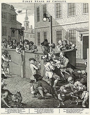 Hogarth Print Reproductions: The Four Stages of Cruelty - 4 Fine Art Prints