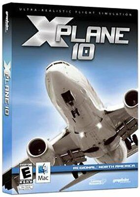 X Plane 10 Mac X,10.5.8 Or Later Dvd *new Factory Sealed*