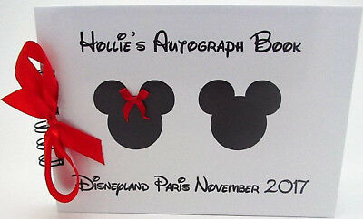 Disney - Disneyland Autograph Book - Personalised mickey mouse/ALBUM