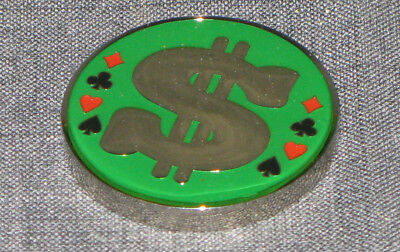 $ Dollar Sign - Poker Chip - Card Cover Guard - Lucky Charm - Itsa Palmer