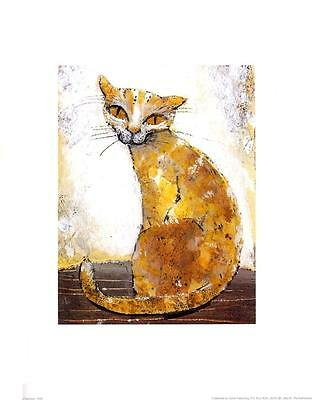 Yellow Cat - Art Print - 9.5 x 11.75 In.