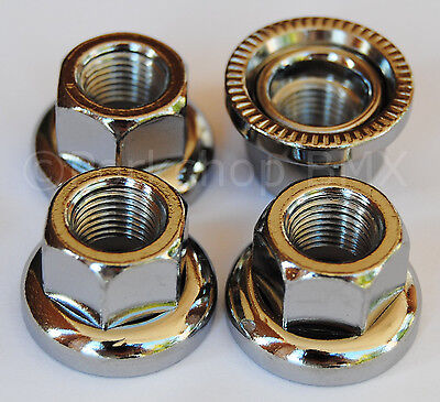 "Swivel washer BMX axle ""track"" nuts - SAVE YOUR DROPOUTS - SET OF 4 - 3/8"" X 26T"