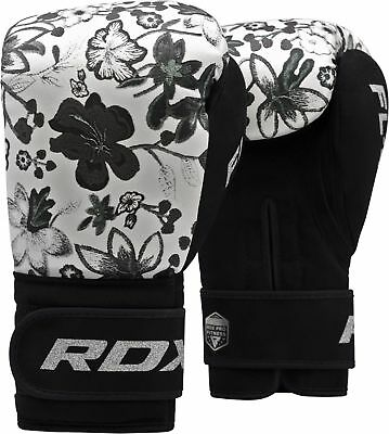 RDX Ladies Kids Boxing Gloves Punch Bag Womens Kickboxing Pads 8oz , 10oz White