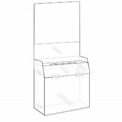 5x9x6 Clear Acrylic Non-Locking Ballot Box Sign Holder  Lot of 4   DS-SBB-596H-4
