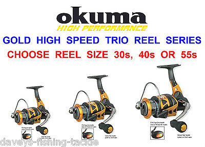 1 Okuma Gold High Speed Srs Trio Reel For Sea Sea Pike Bass Spinning Rod Lures