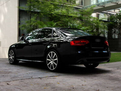 Painted For Audi A4 B8 Typ 8K Saloon 09-12 Trunk Boot Lip Spoiler Black LY9B/A2