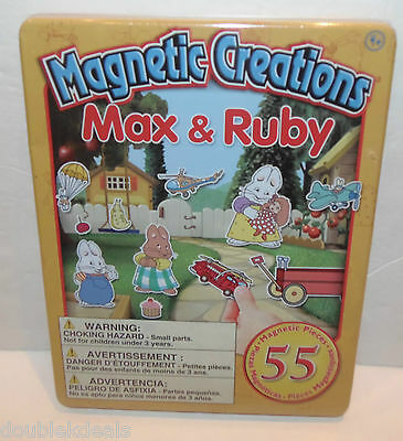Brand New Max And Ruby Magnetic Creations Playset 55Pc With 3 Background Scenes