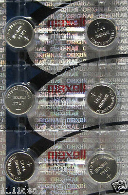 New 6 Maxell Lr44 Ag13 A76 L1154 303 357 Sr44 Batteries