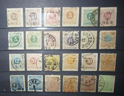 small lot early issue Sweden stamp  mint used