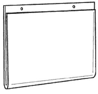 11x8.5 Clear Styrene Wall Mount Sign Holder     Lot of 10     DS-LHP-1185E-10