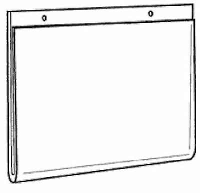 14x11 Clear Styrene Wall Mount Sign Holder      Lot of 10      DS-LHP-1411E-10