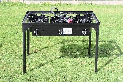 CONCORD Triple Burner Outdoor Stand Stove Cooker w/ Regulator Brewing Equipment