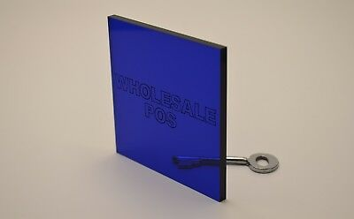 5Mm Dark Blue Tinted Acrylic Perspex Sheet Custom Cut Panel Fast Free Delivery