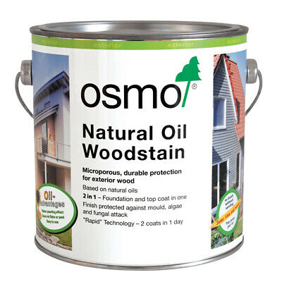 Osmo Natural Oil Woodstain 5ml Sachet, 125ml, 750ml & 2.5 litres. In 19 Shades