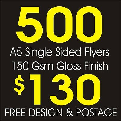 500 A5 Flyers, Full Colour Printing, Free Design & Postage
