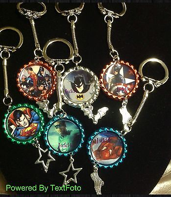 Superhero Characters Key Chain With A Charm