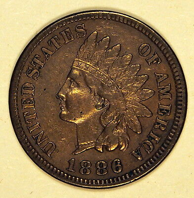 USA 1886 - 1 cent coin - about Very Fine - good Very Fine