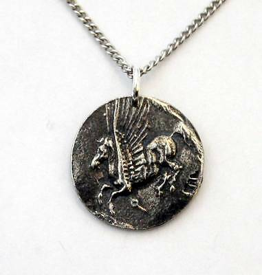 Pegasus Necklace in Fine English Pewter, Handmade and Gift Boxed (wa)