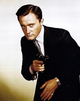 Robert Vaughn Man From Uncle Rare Action Photo