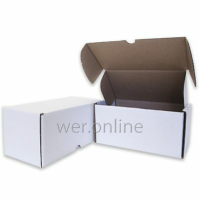 "White 8x4x4""  Diecut Post Mailing Cardboard Boxes Single Wall Packaging Cartons"